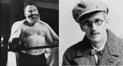 James Joyce Picked Drunken Fights, Then Hid Behind Ernest Hemingway
