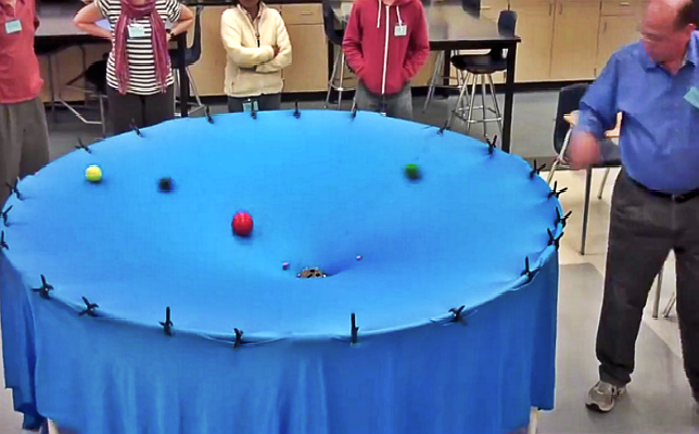 Gravity Visualized by High School Teacher in an Amazingly Elegant & Simple Way