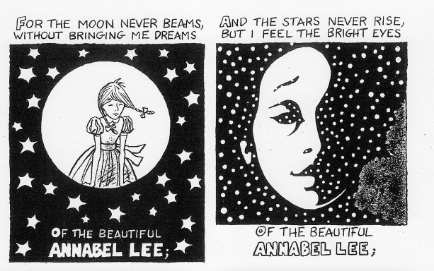 a comic book adaptation of edgar allan poe s poignant poem  a comic book adaptation of edgar allan poe s poignant poem annabel lee open culture