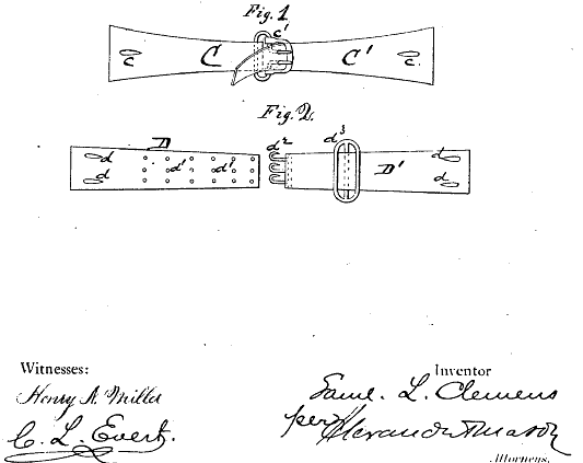 039b28a02 Mark Twain s Patented Inventions for Bra Straps and Other Everyday Items
