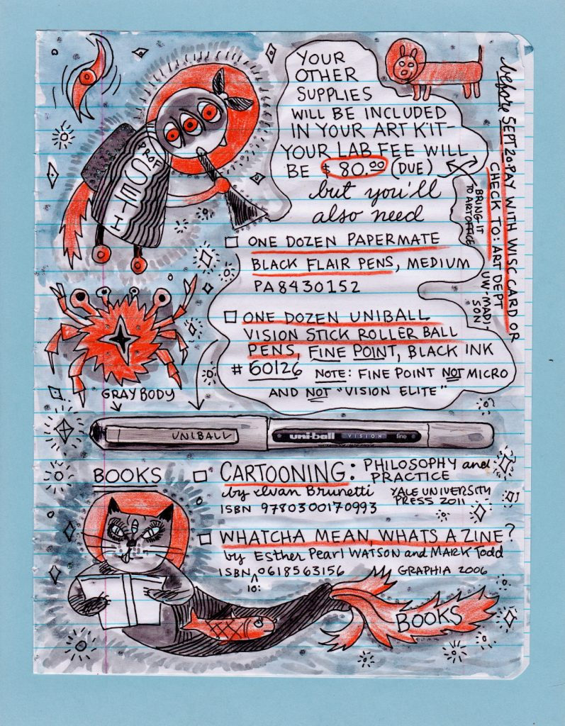 Lynda Barry's Illustrated Syllabus & Homework Assignments