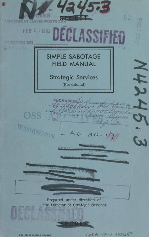 Simple Sabotage Manual