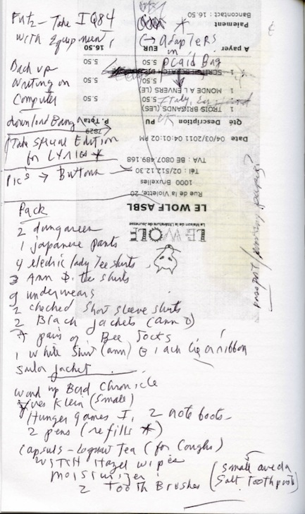 Patti Smith Packing List