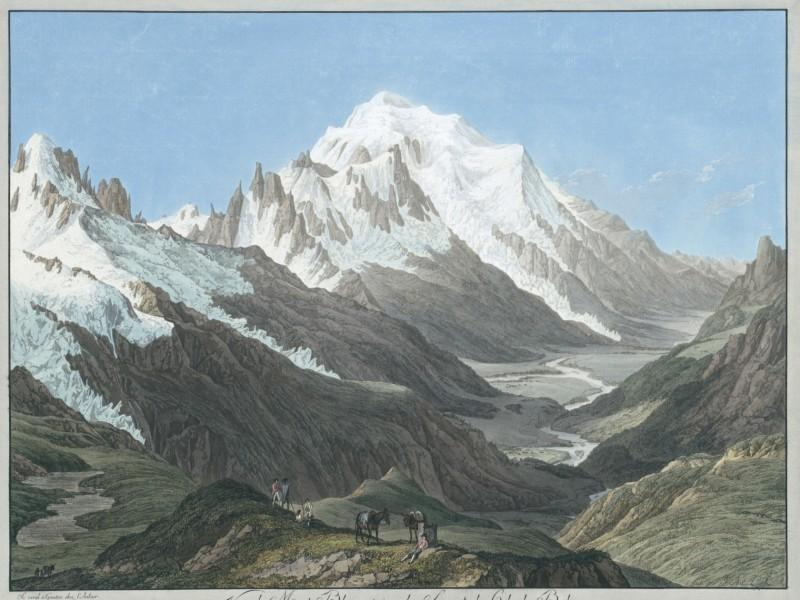 Vue du Mont-Blanc, prise du Sommet du Col de Balme