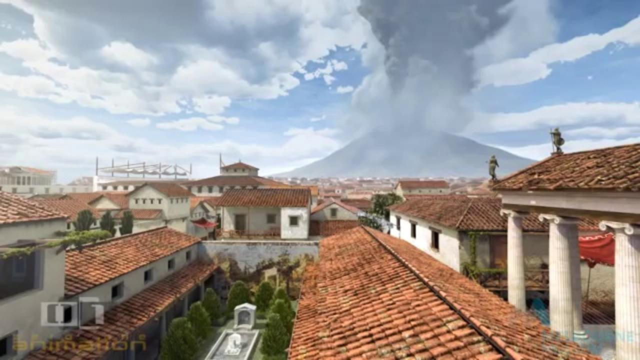 Watch The Destruction Of Pompeii By Mount Vesuvius Re