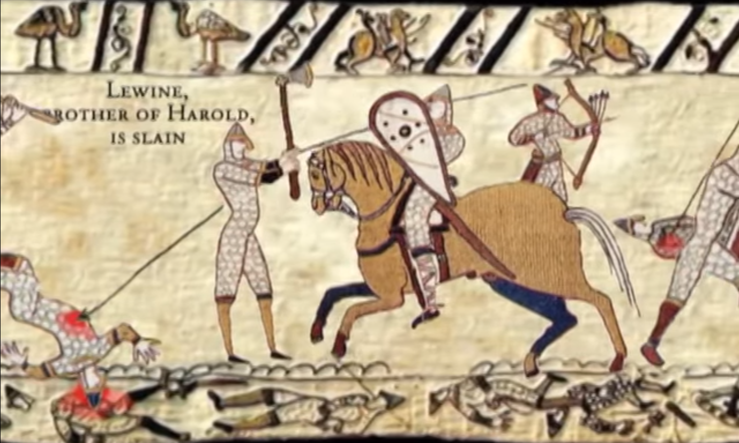 bayeux tapestry A professor of history at oxford university has claimed he is the first person in a thousand years to count the number of penises in the bayeux tapestry.