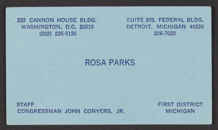 Parks Business Card