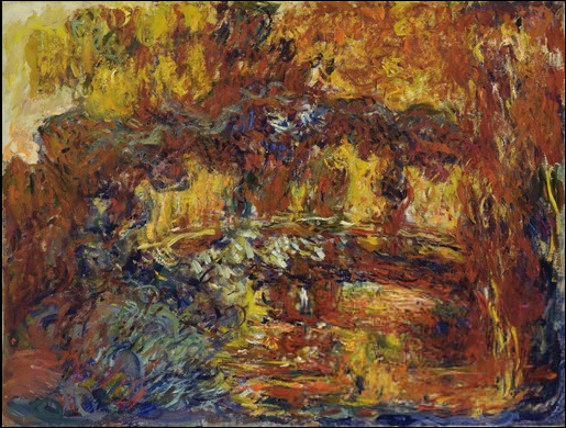 Monet Japanese Footbridge 1920