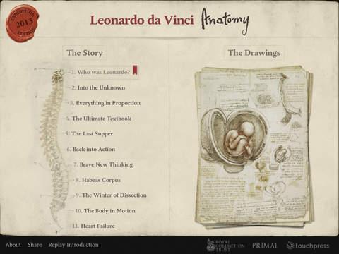 Leonardo Da Vinci desenhos anatômicos