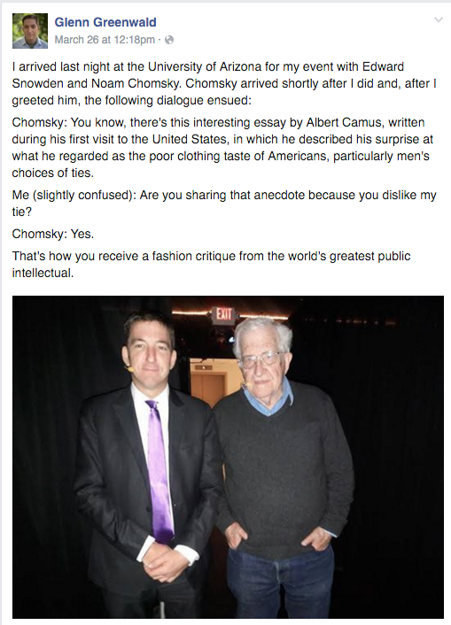 chomsky fashion advice