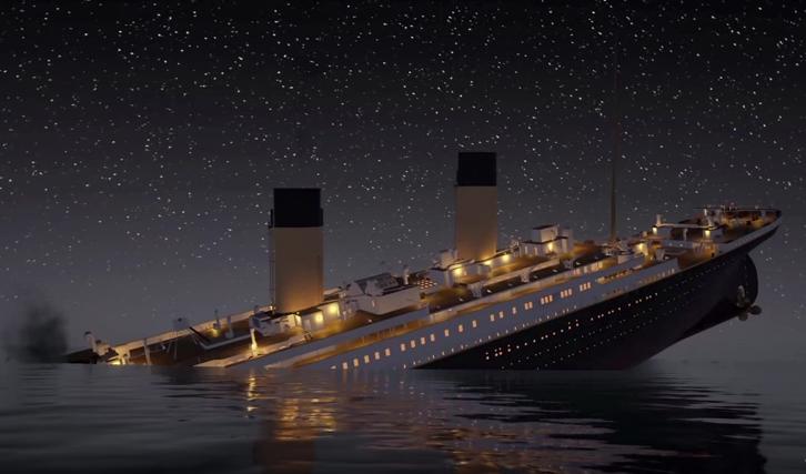 Titanic sank date in Perth