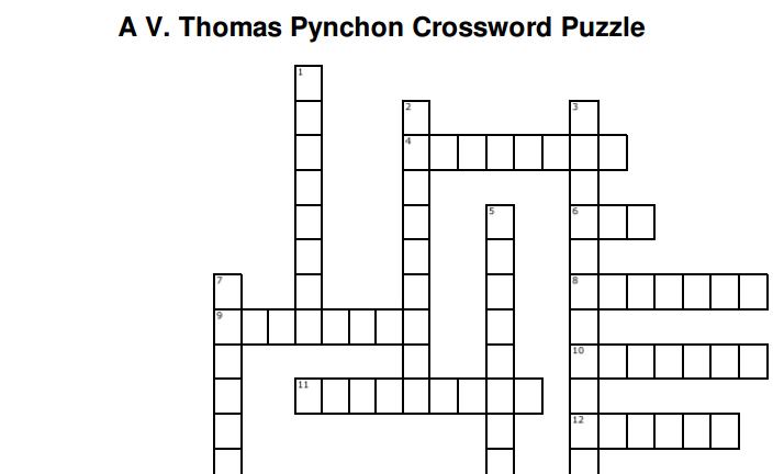 pynchon crossword