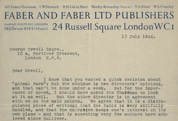 orwell rejection