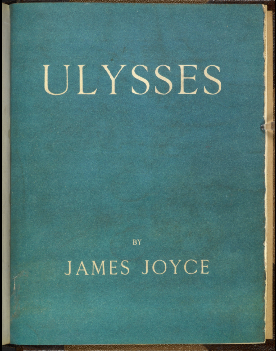 First Edition Ulysses