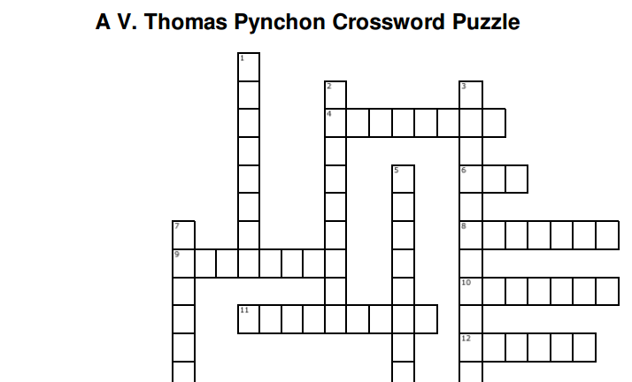 The Thomas Pynchon Crossword Puzzle | Open Culture