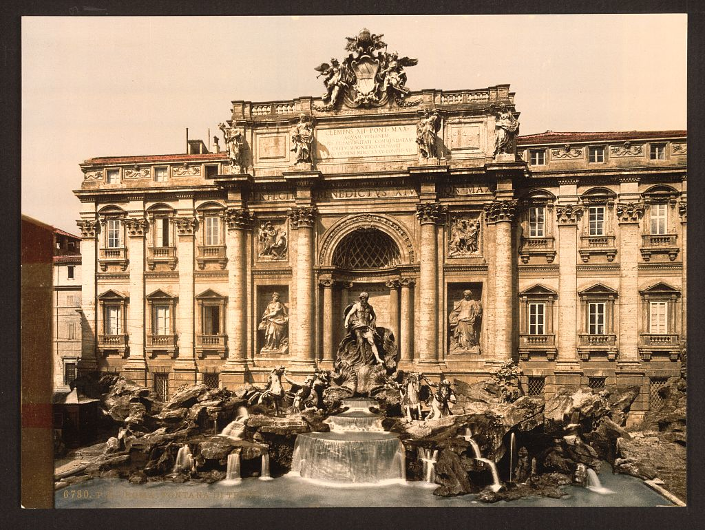1890 Trevi Fountain
