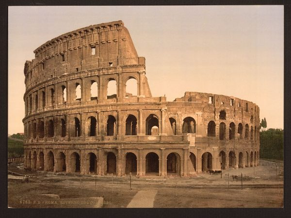 Rome Comes to Life in Photochrom Color Photos Taken in 1890: The Colosseum, Trevi Fountain & More