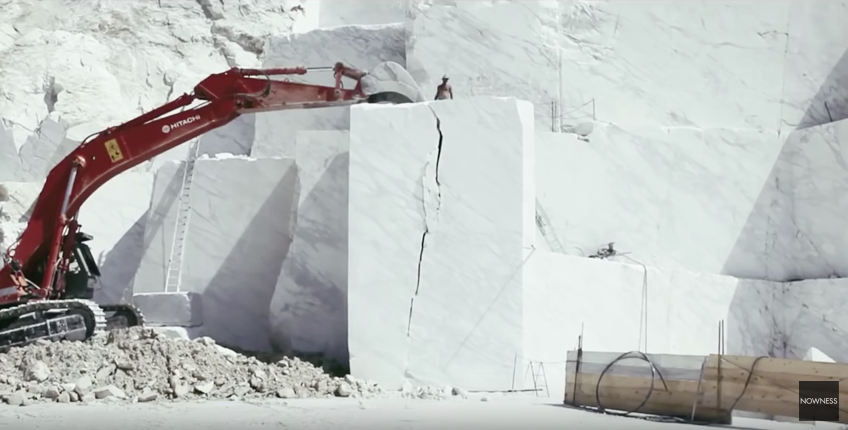 The Poetry Of Mining Beautiful White Italian Marble