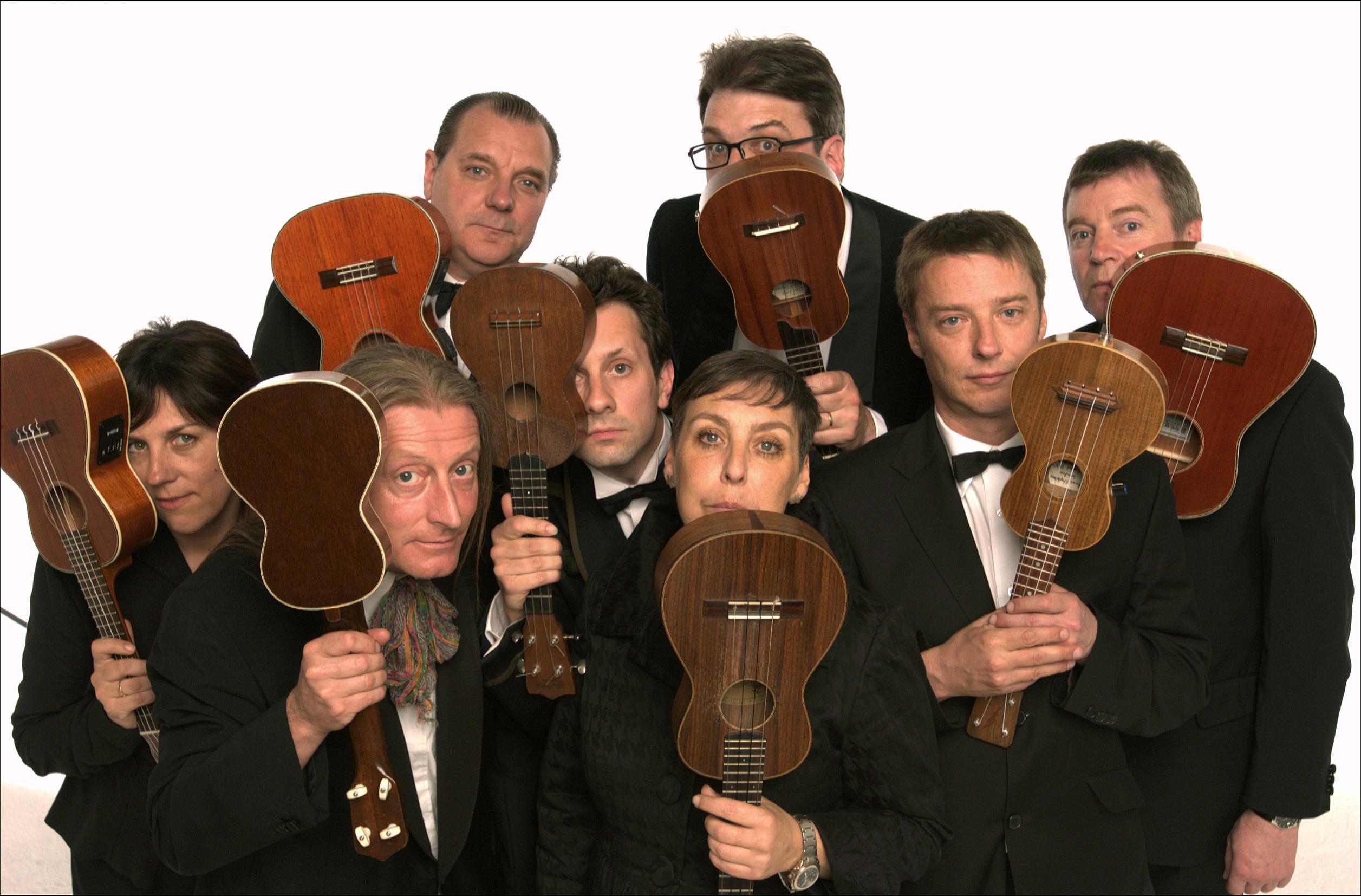 recording studio ukelele orchestra