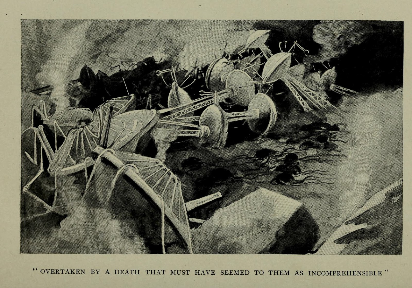 the very first illustrations of h g wells the war of the worlds  hg wells 4
