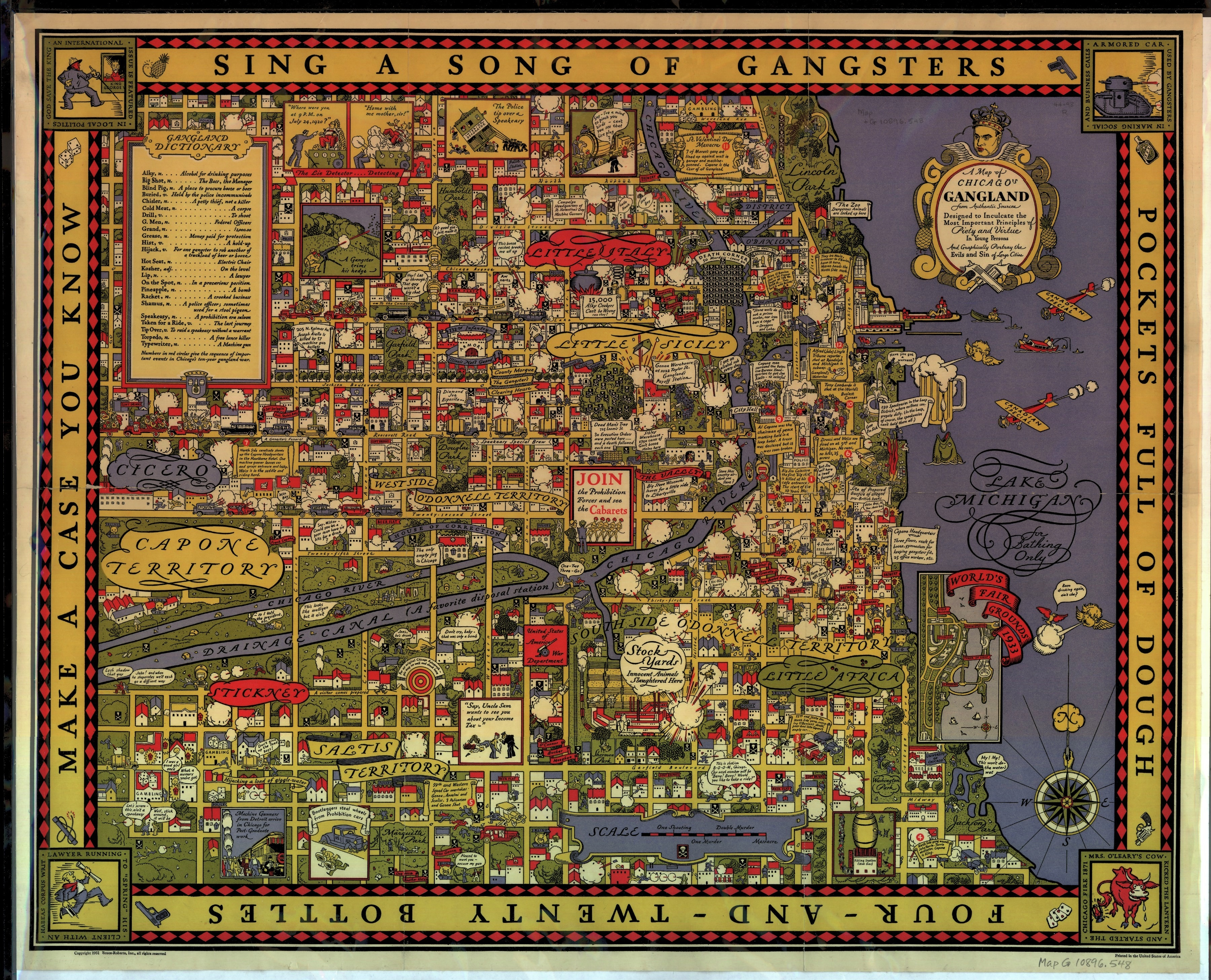 A Map of Chicago's Gangland: A Cheeky, Cartographic Look at ... Chicago Map Of The World On With It on italy on world map, bangkok on world map, dead sea on world map, amazon river on world map, washington dc on world map, vienna on world map, 1893 chicago world's fair map, cape town world map, chicago on north america map, new york city on world map, moscow on world map, istanbul on world map, england on world map, chicago on the water, london on world map, madrid world map, chicago on state map, chicago on usa map, chicago on map of world, hawaii on world map,