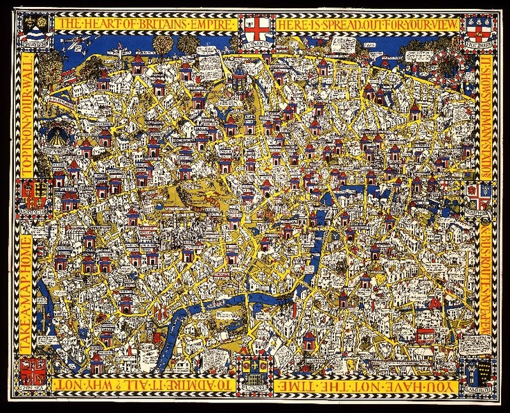 London Town Map.The Wonderground Map Of London Town The Iconic 1914 Map That Saved