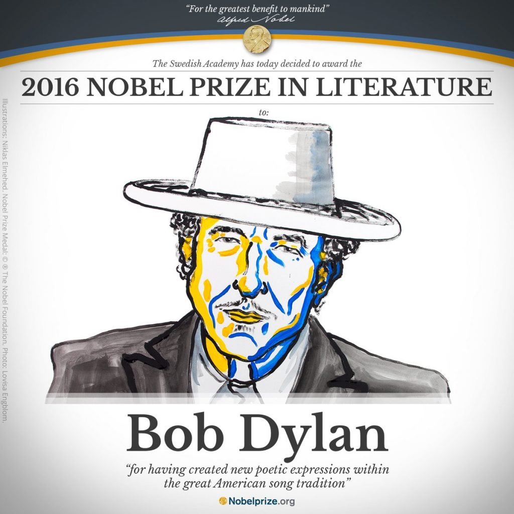 Bob Dylan Wins Nobel Prize in Literature for Creating