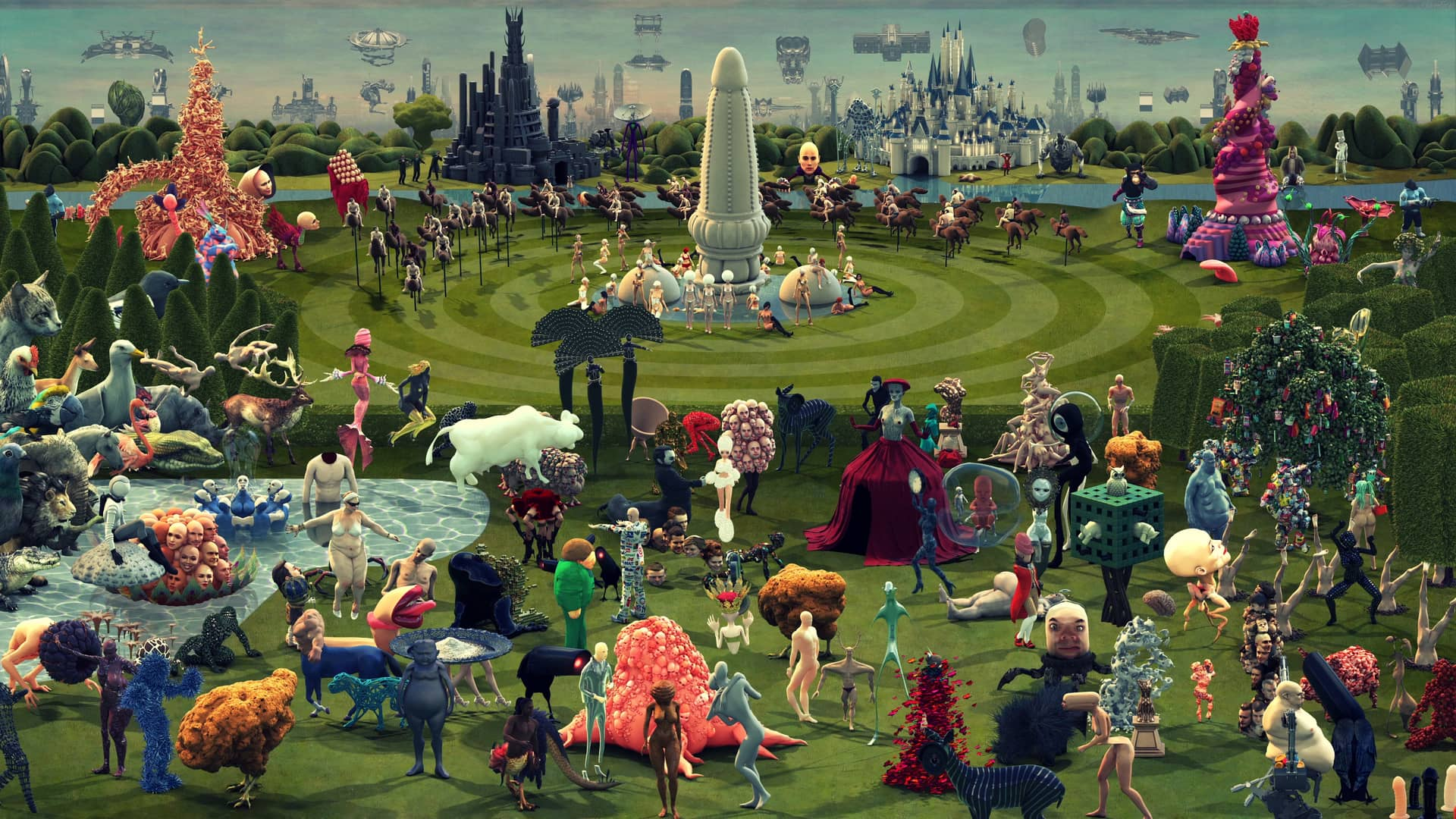 "Hieronymus Bosch's Medieval Painting, ""The Garden of Earthly Delights,"" Comes to Life in a Gigantic, Modern Animation"