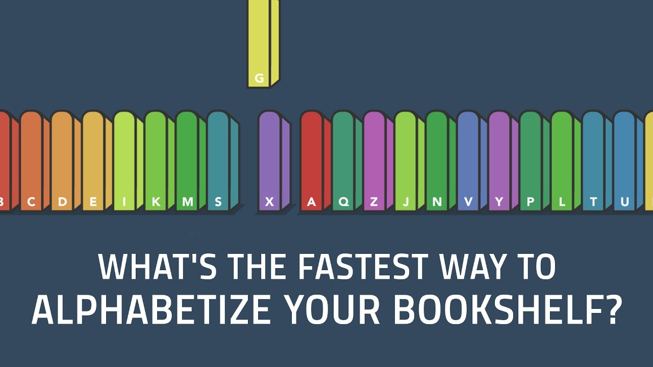 What's the Fastest Way to Alphabetize Your Bookshelf?