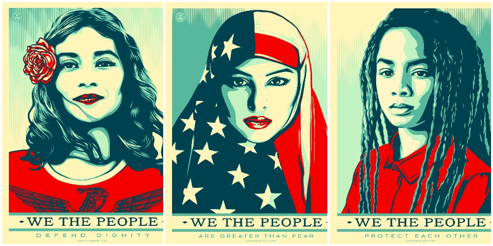 image relating to Printable Women's March Signs called Down load Print Totally free Shepard Fairey Protest Posters for the